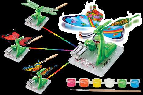 Hi-Tech Artsy Toys - This Mechanical Butterfly Was Designed to Be Decorated by the Child