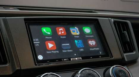 Smartphone Integrated Interfaces - Alpine's Apple Carplay Receiver Was Unveiled at CES