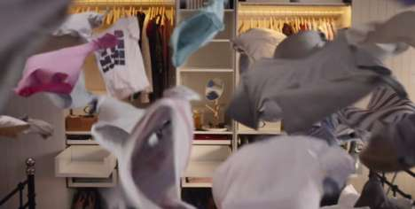 Quirky Storage Commercials - IKEA's 'Joy of Storage' Shows Clothes Finding Their Home