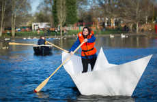 Gigantic Origami Boats - Big Bang Fair Teamed Up with Kids to Build a Huge Floating Paper Boat