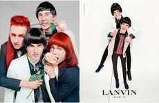 Nostalgic Rocker Marketing - The Latest Lanvin Menswear Campaign is Inspired by Music History
