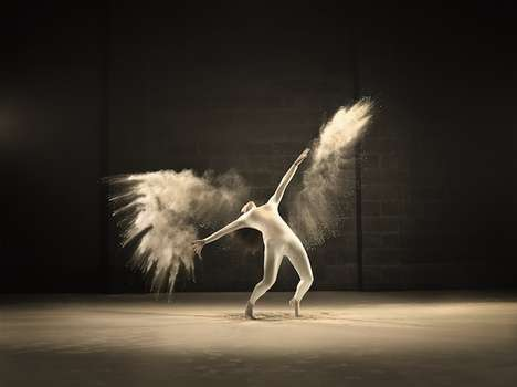 Powdered Dancer Photoshoots - Photographer Jeffrey Vanhoutte Captures Surreal Acrobatic Poses