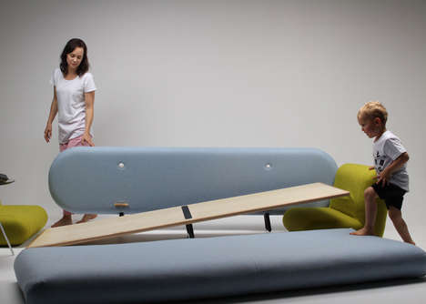 Playground Sofa Sets - Marvin Reber's Fun Furniture Design Can Be Dismantled for Play