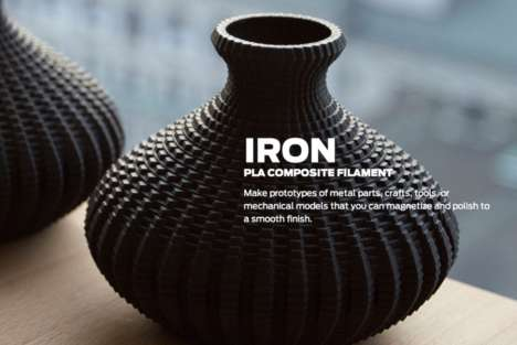 Natural 3D Printing Materials - MakerBot Introduces New Printing Composites for Iron, Wood & Stone