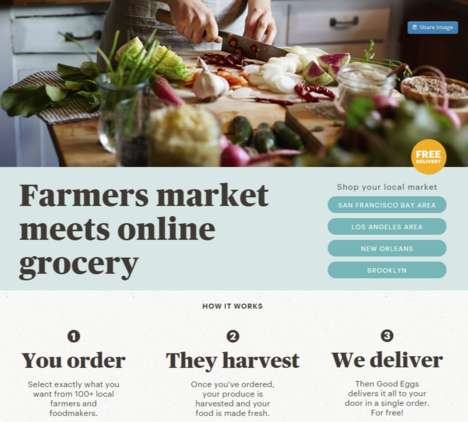 Online Farmers' Markets - Good Eggs Brings the Freshness & Convenience of Farmers' Markets Online