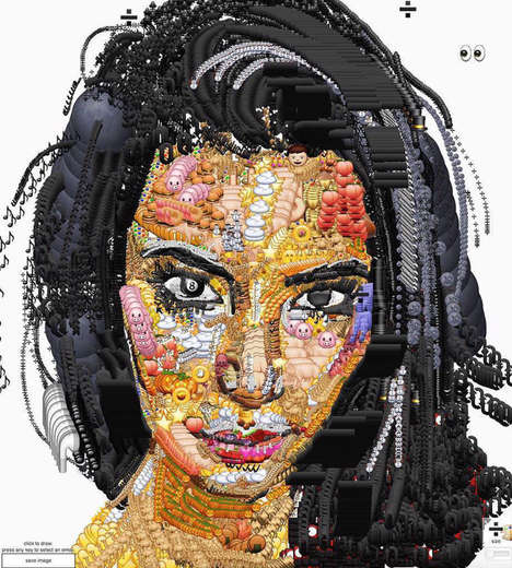 Celeb Emoji Portraits - This Kim Kardashian Art Piece is Made Entirely Out of Emojis