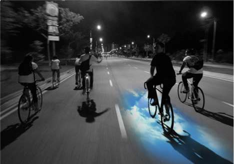 Transfixing Laser Bike Lights - The &B Laser Beam Light Casts Colors, Patterns and Logos on the Road