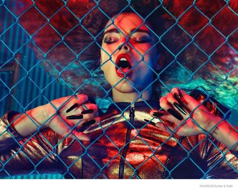 Sensual Vampire Editorials - HGIssue Pays Tribute to The Viper Room with Crystal Renn