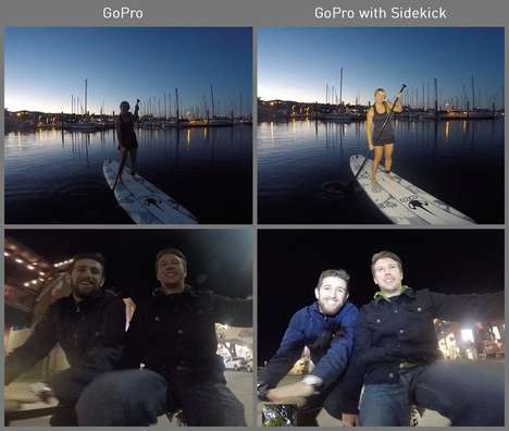 Compact Camera Lights - The GoPro Sidekick Lights Up GoPro Heri Shots
