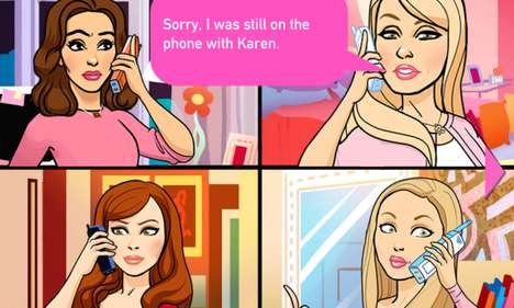 Movie-Inspired Game Apps - The Mean Girls Game Lets You Restore Peace as Mean Girl Characters