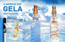 Paper Bottle Chillers - Glacial's Print Ad Doubles as a Way to Cool a Bottle of Beer