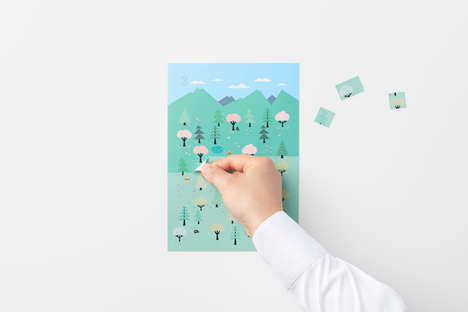 Adhesive Advent-Themed Calendars - This Whimsical Sticker Calendar From Nendo is Revealing