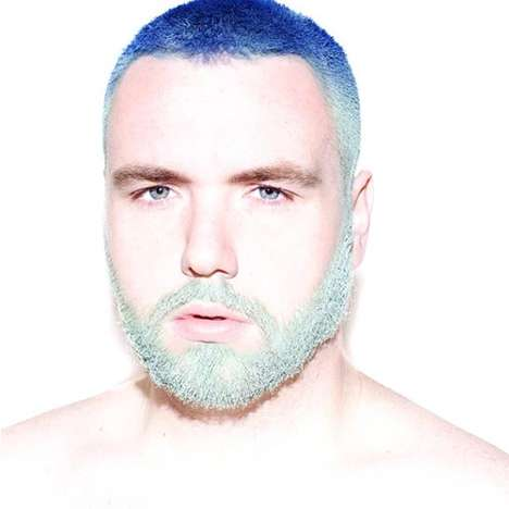 Colorfully Dyed Beards - 'Men with Unicorn Hair' is a Modern Fashion Statement