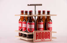 Handyman Beer Branding - Hodor Craft Beer Packaging was Designed to Be Solid Yet Basic in Structure