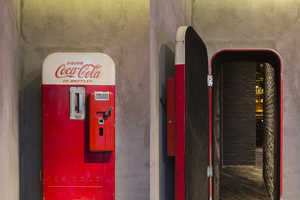 Flask is a Lounge Found Behind a Vintage Coke Vending Machine