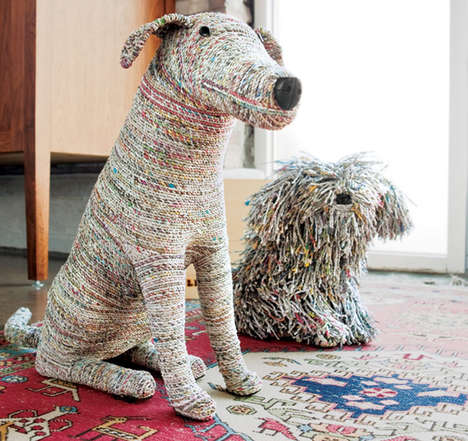 35 Newspaper Design Finds - From Recycled Tabloid Jewelry to Paper-Made Animal Sculptures