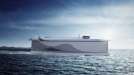Wind-Powered Freight Ships - The Vindskip's Hull Harnesses the Power of the Wind