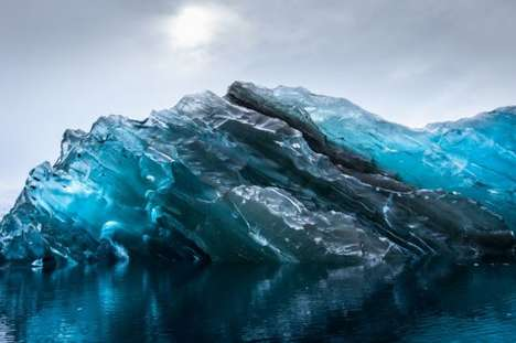 Flipped Iceberg Photography - Alex Cornell Captures an Unusual Sight When Traveling the Antarctic