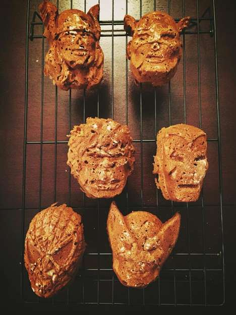 Superhero Shaped Bread - These Banana Bread Muffins Look Like Marvel Comic Book Characters