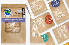 Healthy Minimalist Food Packaging - Aleia's Gluten Free Products Focus on Key Ingredients