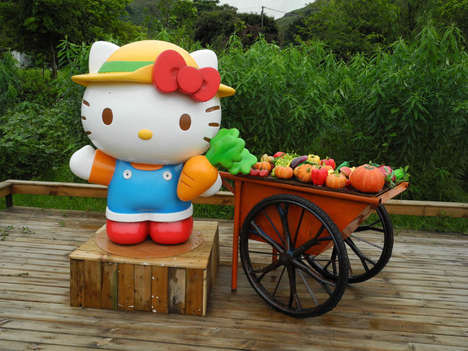 Cartoon Theme Farms - The Hello Kitty Go Green Organic Farm Teaches Youngsters About Food Safety