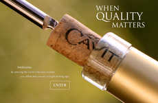Serene Wine Ads - This Cavit Collection Ad Extols the Virtue of Old-Fashioned Wine Production