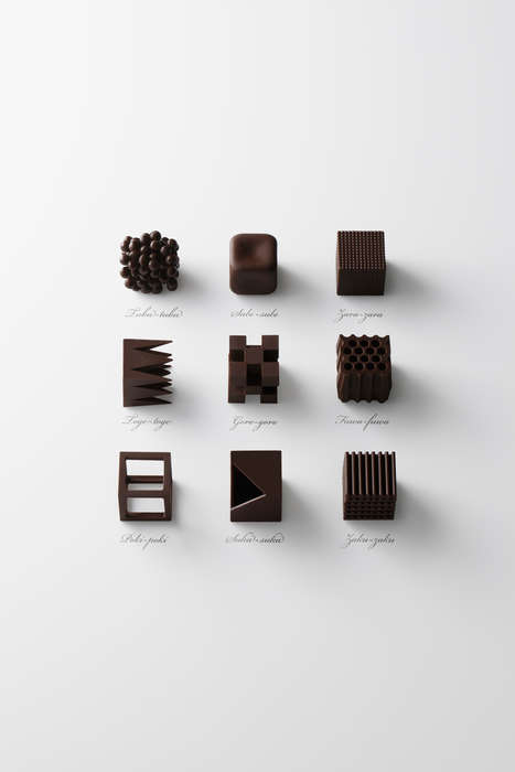 Textural Chocolate Cubes - Nendo Designed a Limited Edition Chocolate Box for Maison & Objet
