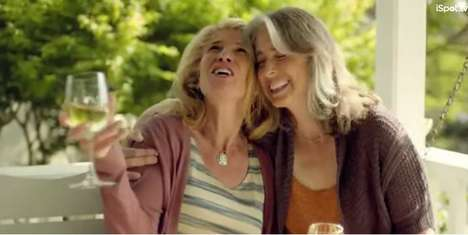 Sentimental Wine Marketing - This Woodbridge By Robert Mondavi Ad Focuses on Friendship and Family