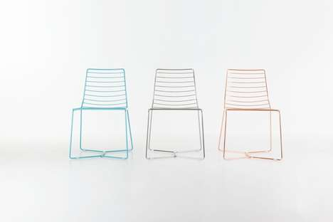 Graphically Linear Furnishings - Alpestudio Architetti Associati's Antia Chair Emodies Minimalism