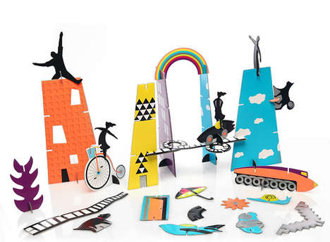 Whimsical Paper Playsets - This Paper Craft for Kids Inspires Kids to Create Dreamy Cloud Cities