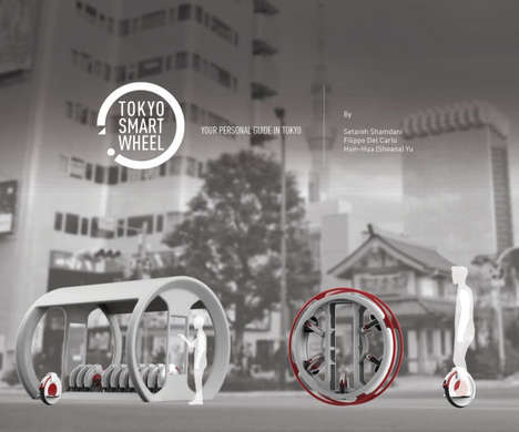Smart Unicycle Segways - The Tokyo Smart Wheel Would Be an Automatic Guide for Tourists in Japan