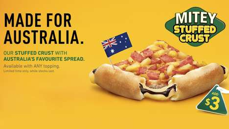 Aussie Spread-Stuffed Crusts - Pizza Hut Australia Will Be Offering a Vegemite Stuffed Pizza Crust