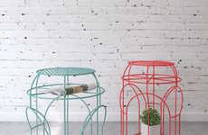 Whimsical Wire Tables - Rotonda by Levantin Design is a Romantic Piece of Furniture