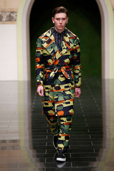 Sophisticated Camo Menswear - The Latest Kilian Kerner Collection Highlights Vibrantly Printed Looks