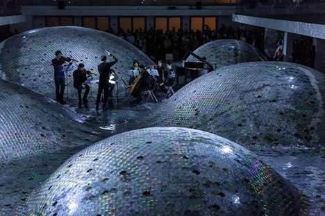 CD Art Installations (UPDATE) - Waste Landscape by Elise Morin is Made Up of Shimmering Tech Hills