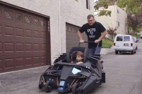 Superhero Strollers - This Batmobile Stroller Looks Incredibly Authentic and Bad-Ass