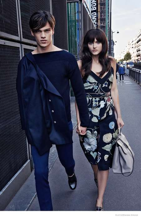 Romantic Stroll Editorials - Zuzana Gregorova and Filip Hrivnak are a Loving Couple in ELLE Czech