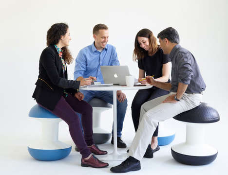 Athletic Seating Systems - The Stability Ball Office Chair Works Out Your Muscles As You Work