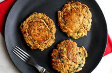 Healthy Brown Rice Pancakes - This Pancake Recipe is Infused with Sesame, Spinach and Scallion