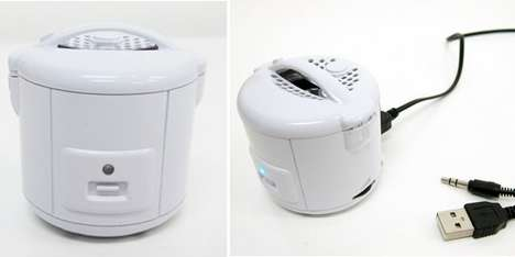 Cooking USB Speakers - Thanko's Rice Cooker Sits by Your Computer and Serves as a Speaker