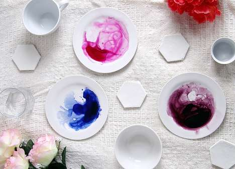 Artistic DIY Dishware - Fall For DIY's Latest Home Decor Project is Visually Striking