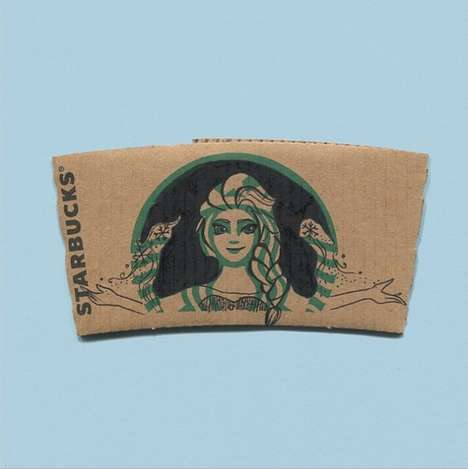 Coffee Collar Character Doodles - This Instagram User Draws Pop Culture Figures on Starbucks Sleeves