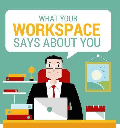 Workspace Personality Charts - This Office Infographic Shows What Your Work Area Reveals About You