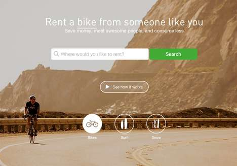 Bicycle-Sharing Sites - Spinlister's Bike Rental Service Makes Eco-Transportation Accessible