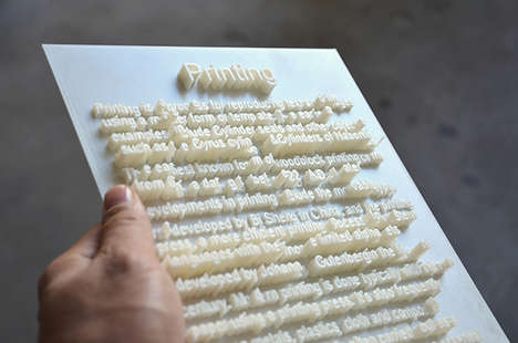 3D-Printed Typography - Textscapes Experiments in Rendering Fonts Fully Formed in Another Dimension
