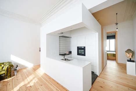 Cubic Apartment Complexes - This Apartment in Brussels Features a Space-Conserving Cube