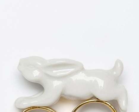 Whimsical Rabbit Rings