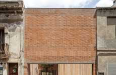 Boxy Brick Abodes - House 1014 Proves That Plain Masonry Building Can Be Truly Beautiful