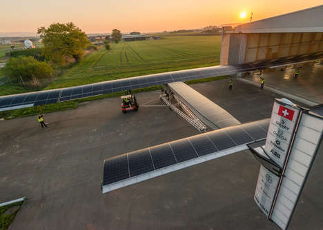 Solar-Powered Planes - The Solar Impulse 2 Will Fly Around the World in Five Months Without Any Fuel