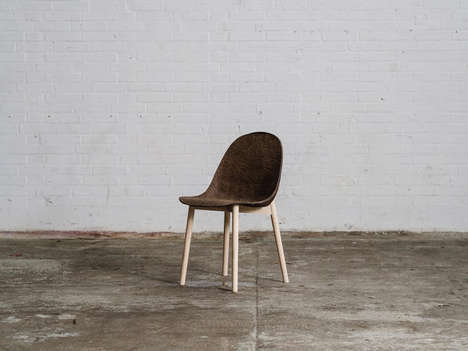 Sustainable Seaweed Furniture - Jonas Edvard and Nikolaj Steenfatt Create Raw Chairs and Lamps